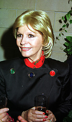 MRS LUISA MOORE former wife of actor Roger Moore, at a party in London on 8th November 1999.MYS 171