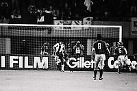 Fotball<br /> Historiske bilder<br /> 27.05.1987<br /> Finale Serievinnercupen<br /> Porto v Bayern München 2-1<br /> Rabah Madjer scores Porto's 1st goal with a cheecky back heel.<br /> Foto: Colorsport/Digitalsport<br /> NORWAY ONLY