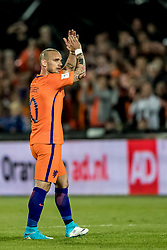 09.06.2017, De Kuip Stadium, Rotterdam, NED, FIFA WM 2018 Qualifikation, Niederlande vs Luxemburg, Gruppe A, im Bild Wesley Sneijder of Netherlands // Wesley Sneijder of Netherlands during the FIFA World Cup 2018, group A qualifying match between Netherlands and Luxemburg at the De Kuip Stadium in Rotterdam, Netherlands on 2017/06/09. EXPA Pictures © 2017, PhotoCredit: EXPA/ Focus Images/ Joep Joseph Leenen<br /> <br /> *****ATTENTION - for AUT, GER, FRA, ITA, SUI, POL, CRO, SLO only*****