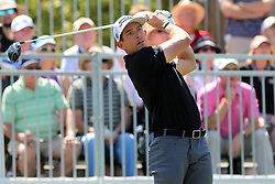 March 23, 2019 - Palm Harbor, FL, U.S. - PALM HARBOR, FL - MARCH 23: Scott Stallings tees off during the third round of the Valspar Championship on March 23, 2019, at Westin Innisbrook-Copperhead Course in Palm Harbor, FL. (Photo by Cliff Welch/Icon Sportswire) (Credit Image: © Cliff Welch/Icon SMI via ZUMA Press)