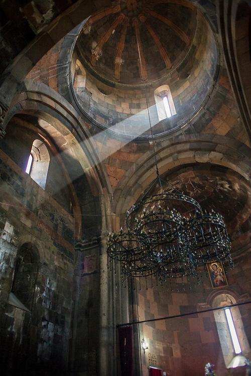 Interior of Hovhannavank Apostolic Church. Built in 1216. Armenia, 2014.