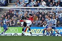 Photo: Gareth Davies.<br />Reading v Charlton Athletic. The Barclays Premiership. 18/11/2006.<br />Charlton's Talal El Karkouri has a shot at the Reading goal.