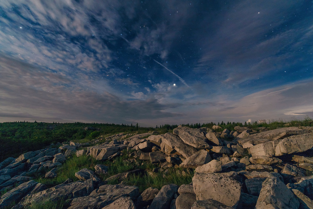 Starry Sky. Dolly Sods Wilderness. Tucker County, West Virginia.
