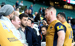 Will Hurrell of Bristol Rugby talks to supporters - Mandatory by-line: Robbie Stephenson/JMP - 03/09/2016 - RUGBY - Twickenham - London, England - Harlequins v Bristol Rugby - Aviva Premiership London Double Header