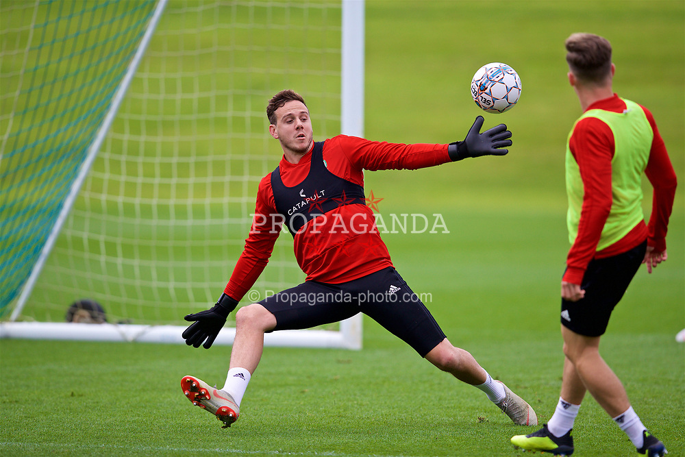 CARDIFF, WALES - Saturday, September 8, 2018: Wales' goalkeeper Daniel Ward during a training session at the Vale Resort ahead of the UEFA Nations League Group Stage League B Group 4 match between Denmark and Wales. (Pic by David Rawcliffe/Propaganda)