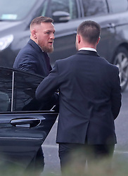 Conor McGregor arrives at Dublin District Court where he is charged with motoring offences.