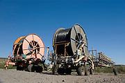 Israel, Kibbutz Maagan Michael, Packed agricultural irrigation equipment