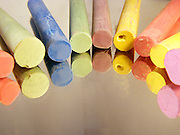 Wax crayons of various colours