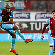 Trabzonspor's Stephane Mbia (L) during their Turkish Super League match Trabzonspor between Gaziantepspor at the Avni Aker Stadium at Trabzon Turkey on Wednesday, 28 October 2015. Photo by Aykut AKICI/TURKPIX