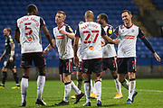 GOAL 3-0 Bolton Wanderers forward Eóin Doyle (9) celebrate scoring the goal during the EFL Sky Bet League 2 match between Bolton Wanderers and Southend United at the University of  Bolton Stadium, Bolton, England on 28 November 2020.