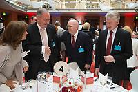"25 MAY 2012, BERLIN/GERMANY:<br /> Linda Chamness, Verein Projekt Schmetterling, Fred B. Irwin, Vice Chairman, Citygroup Deutschland, Philip T. Reeker, Ambassador U.S. Department of Staate, Heinrich Hiesinger, Vorstandsvorsitzender ThyssenKrupp AG, (v.L.n.R.) Gala Dinner, Global Business Dialogue ""Beyond Uncertain Times: A Growth Agenda"", axica Konferenzzentrum<br /> IMAGE: 20120525-02-103"