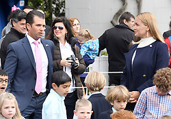 Vanessa Haydon Trump (R) and Donald Trump Jr. (L), who filed for divorce attend the 140th Easter Egg Roll on the South Lawn of the White House in Washington, DC on Monday, April 2, 2018. Photo by Olivier Douliery/Abaca Press
