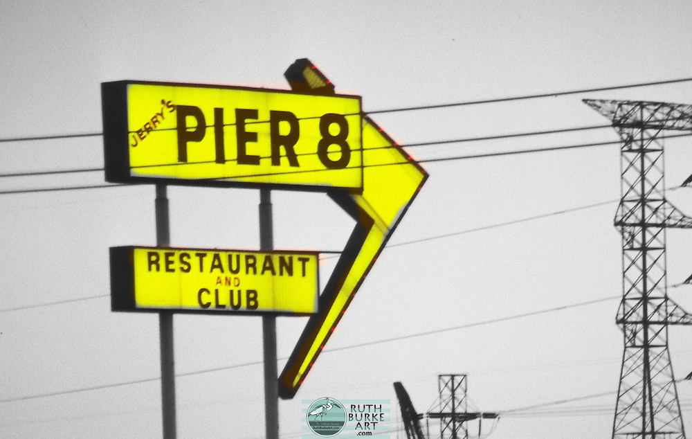 1981 Pier 8 sign in Seabrook 1981