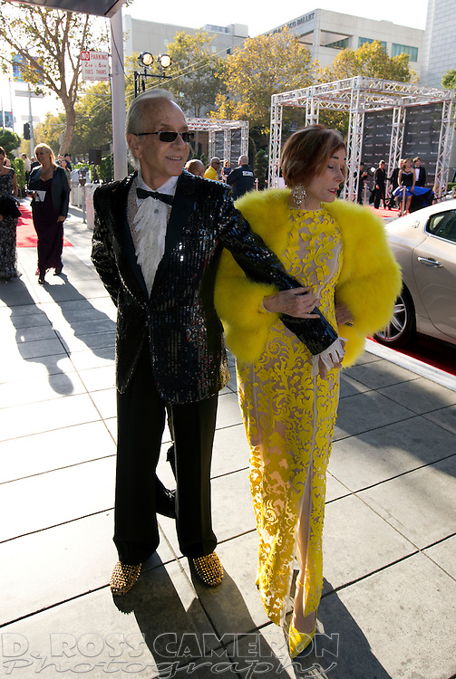 Norman and Norah Stone arrive at the gala opening of the San Francisco Symphony, Wednesday, Sept. 3, 2014 at Davies Symphony Hall in San Francisco. (Photo by D. Ross Cameron)