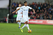 Kyle Naughton of Swansea city in action.Premier league match, Swansea city v Burnley at the Liberty Stadium in Swansea, South Wales on Saturday 4th March 2017.<br /> pic by Andrew Orchard, Andrew Orchard sports photography.