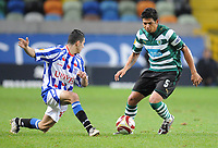 20091103: LISBON, PORTUGAL - Sporting Lisbon vs Heerenveen: Europa League 2009/2010 - Group Stage. In picture: Pedro Silva and Osama Assaidi. PHOTO: Alexandre Pona/CITYFILES