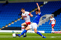 Liam Mandeville of Chesterfield slides in to tackle Ben Wiles of Rotherham United - Mandatory by-line: Ryan Crockett/JMP - 20/07/2019 - FOOTBALL - Proact Stadium - Chesterfield, England - Chesterfield v Rotherham United - Pre-season friendly
