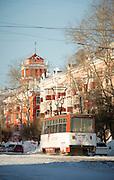Tram in Komsomolsk-na-Amure.Siberia, Russia