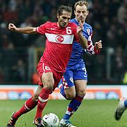 Turkey's Hamit ALTINTOP (L) and Croatia's Ivan RAKITIC (R) during their UEFA EURO 2012 Play-off for Final Tournament First leg soccer match Turkey betwen Croatia at TT Arena in Istanbul Nüovember11, 2011. Photo by TURKPIX