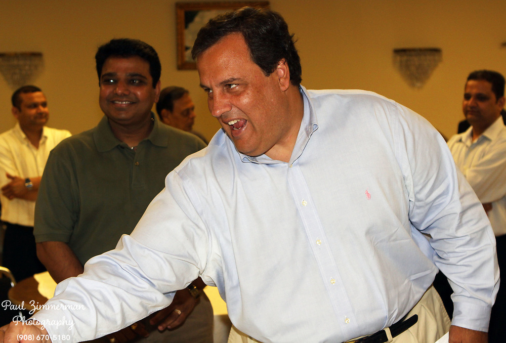 22 August 2009 - Iselin, New Jersey. Chris Christie. New Jersey Governor Candidate Chris Christie attends the Indian-American Leadership Forum. Photo Credit: Paul Zimmerman/AdMedia