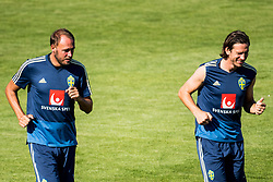 July 4, 2018 - Gelendzhik, Russia - 180704 Andreas Granqvist and Gustav Svensson of the Swedish national football team at a practice session during the FIFA World Cup on July 4, 2018 in Gelendzhik..Photo: Petter Arvidson / BILDBYRN / kod PA / 92081 (Credit Image: © Petter Arvidson/Bildbyran via ZUMA Press)