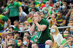 Supporters of Lithuania during the 2020 FIBA Men's Olympic Qualifying Tournament final game between Lithuania and Slovenia on July 4, 2021 in Zalgiris Arena, Kaunas, Lithuania. Photo by Fotodiena / Sportida