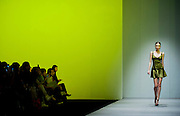 A model showcases designs of XXX on the runway during the Designer's Collection Show on day 3 of Hong Kong Fashion Week Autumn/Winter 2013 at the Convention and Exhibition Centre on January 16, 2013 in Hong Kong, China. (Photo by Victor Fraile/Getty Images)