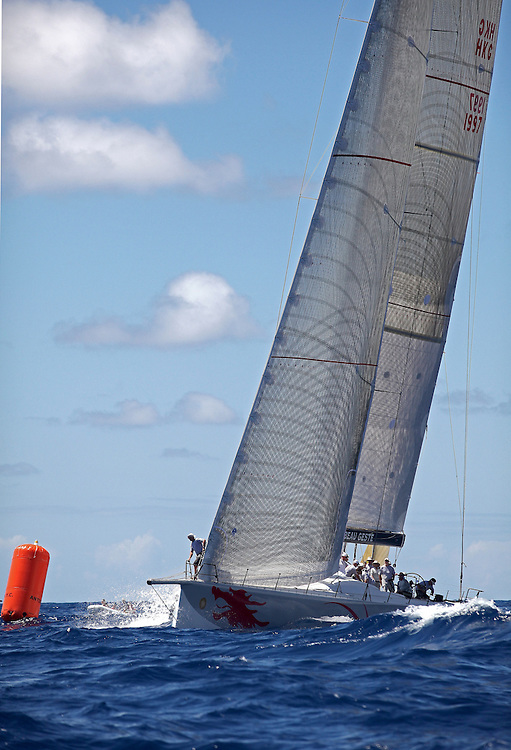 The start of the 2010 RORC Caribbean 600 Regatta off of Falmouth Harbour in Antigua.