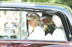 © London News Pictures. 27/05/15. London, UK. TRH Duchess of Cornwall and the Prince of Wales travel to Buckingham Palace ahead of the State Opening of Parliament, Central London. Photo credit: Laura Lean/LNP/05/15.