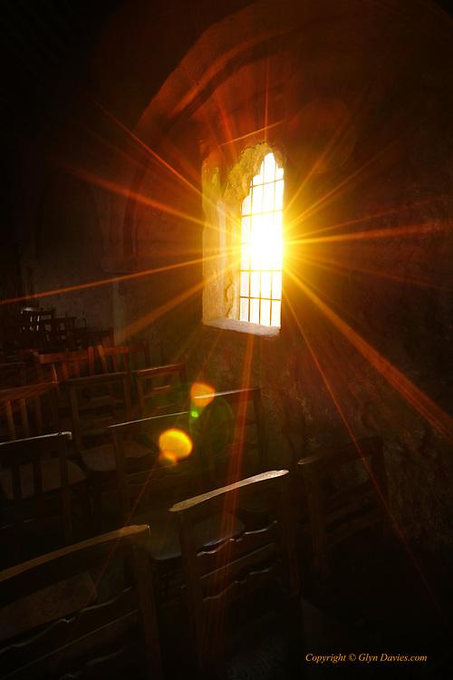 Interior of Eglwys Cwyfan Church, Porth Cwyfan, Anglesey