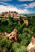 France, Provence, Hilltop village of Roussillon.