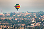 Hot air balloons carry tourists at sunrise outside the colonial city of San Miguel de Allende, Mexico.