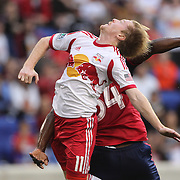 Dax McCarty, New York Red Bulls, in action during the New York Red Bulls Vs Chicago Fire, Major League Soccer regular season match at Red Bull Arena, Harrison, New Jersey. USA. 10th May 2014. Photo Tim Clayton