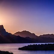 Sunset on Lake Havasu, Arizona.