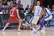DESCRIZIONE : Eurolega Euroleague 2015/16 Group D Dinamo Banco di Sardegna Sassari - Brose Basket Bamberg<br /> GIOCATORE : Brenton Petway Gabe Olaseni<br /> CATEGORIA : Palla Contesa A Terra<br /> EVENTO : Eurolega Euroleague 2015/2016<br /> GARA : Dinamo Banco di Sardegna Sassari - Brose Basket Bamberg<br /> DATA : 13/11/2015<br /> SPORT : Pallacanestro <br /> AUTORE : Agenzia Ciamillo-Castoria/L.Canu