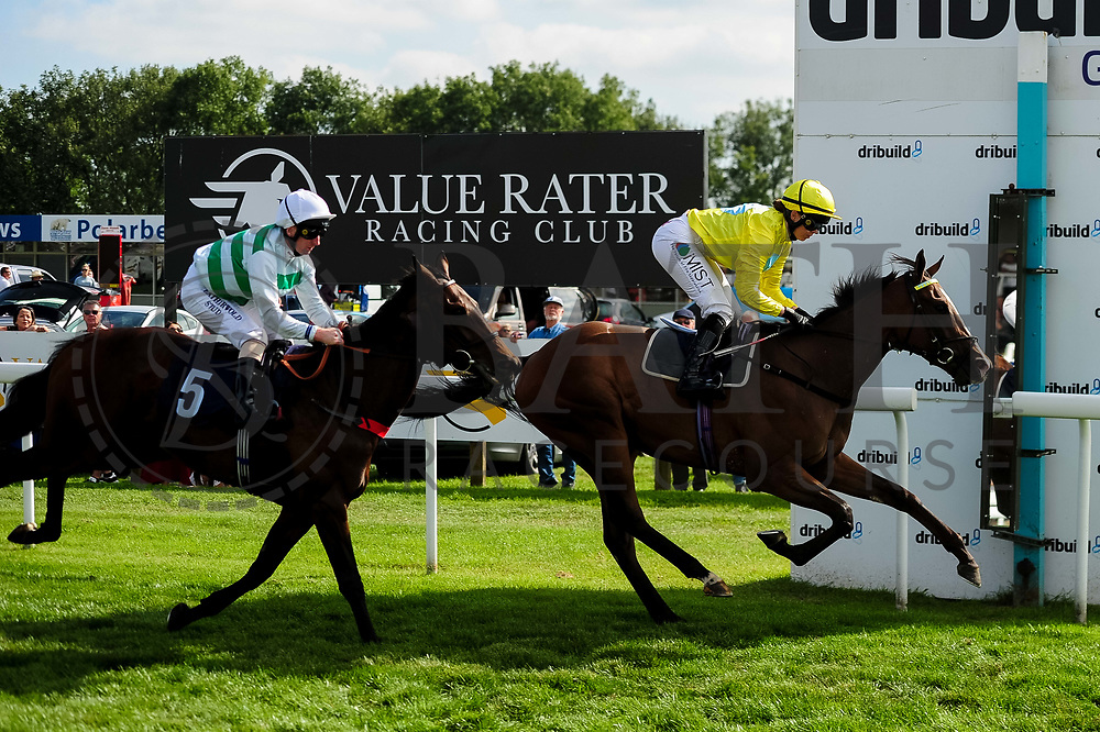 Summer Skies ridden by Martin Dwyer and trained by Marcus Tregoning in the Visit Sandstorm At Valuerater.Co.Uk Novice Stakes race. Olaf ridden by Grace McEntee and trained by George Boughey in the Visit Sandstorm At Valuerater.Co.Uk Novice Stakes race.  - Ryan Hiscott/JMP - 15/09/2019 - PR - Bath Racecourse - Bath, England - Race Meeting at Bath Racecourse