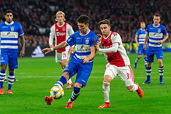 13-03-2019 NED: Ajax - PEC Zwolle, Amsterdam<br /> Ajax has booked an oppressive victory over PEC Zwolle without entertaining the public 2-1 / Pelle Clement #22 of PEC Zwolle, Nicolas Tagliafico #31 of Ajax