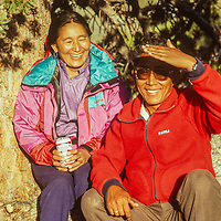 Pasang Kami and Namdu Sherpani visit the Bristlecone Pine Forest near Bishop, CA