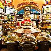 One of the larger and more modern shops in the Spice Bazaar (also known as the Egyption Bazaar) in Istanbul, Turkey.