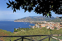 GV, general view, Sorrento, Italy, from rooftop garden, Hotel Bristol, September, 2015, 201509161580<br /> <br /> Copyright Image from Victor Patterson, 54 Dorchester Park, Belfast, UK, BT9 6RJ<br /> <br /> t1: +44 28 9066 1296<br /> t2: +44 28 9002 2446<br /> m: +44 7802 353836<br /> e: victorpatterson@me.com<br /> <br /> www.victorpatterson.com<br /> <br /> IMPORTANT: Please see my Terms and Conditions of Use at www.victorpatterson.com