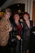 Angela Rippon, Ruby Wax and Esther Rantzen, Opening night of Dralion. Cirque de Soleil's 20th anniversary. Royal Albert Hall. 6 jan 2005. ONE TIME USE ONLY - DO NOT ARCHIVE  © Copyright Photograph by Dafydd Jones 66 Stockwell Park Rd. London SW9 0DA Tel 020 7733 0108 www.dafjones.com