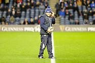 Richard Cockerill before the Guinness Pro 14 2018_19 match between Edinburgh Rugby and Scarlets at BT Murrayfield Stadium, Edinburgh, Scotland on 2 November 2018.