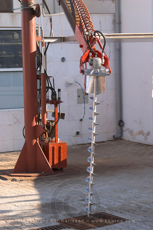 automatic grape sampling machine at reception adega cooperativa de borba alentejo portugal