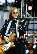 Tom Petty performs at Live Aid Philadelphia USA- 1985