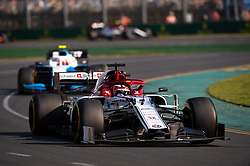 March 17, 2019 - Albert Park, VIC, U.S. - ALBERT PARK, VIC - MARCH 17: Alfa Romeo Racing driver Kimi Raikkonen (7) during the race at The Australian Formula One Grand Prix on March 17, 2019, at The Melbourne Grand Prix Circuit in Albert Park, Australia. (Photo by Speed Media/Icon Sportswire) (Credit Image: © Steven Markham/Icon SMI via ZUMA Press)