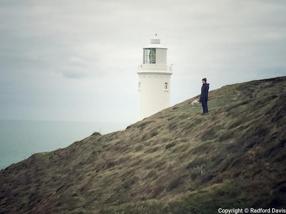 Trevose lighthouse, Cornwall, England.