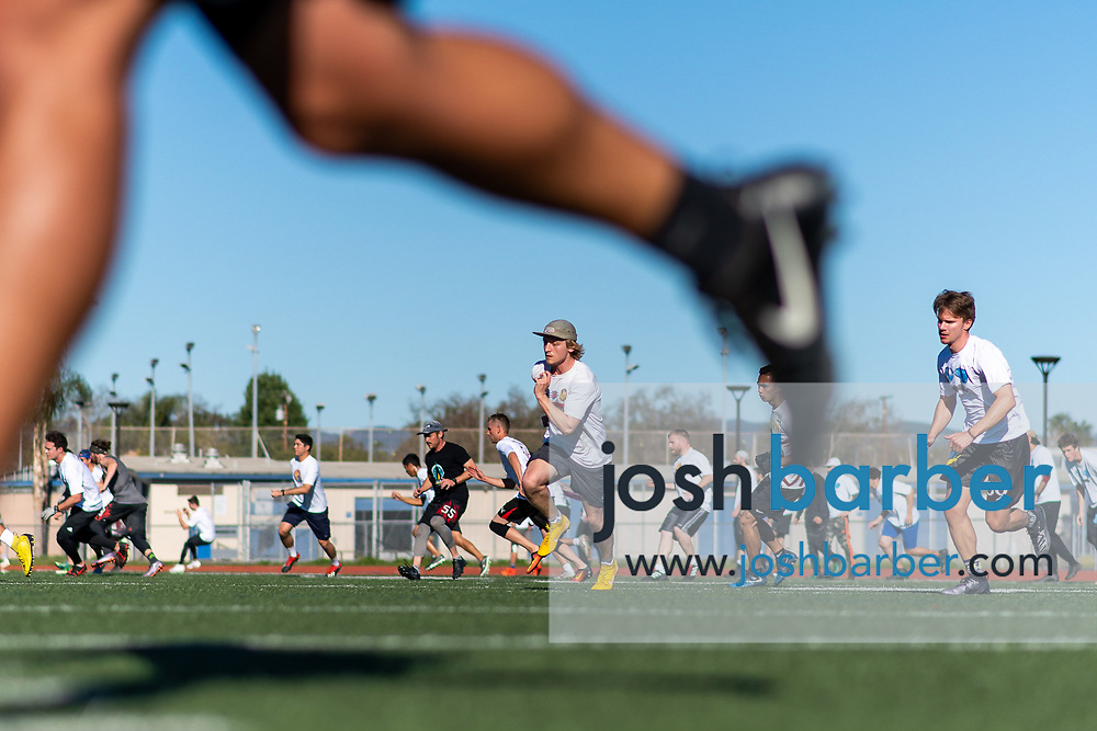 during the LA Aviators Tryouts at Culver City High School's Jerry Chabola Stadium on Saturday, February 1, 2020 in Culver City, California. (Photo/Josh Barber)