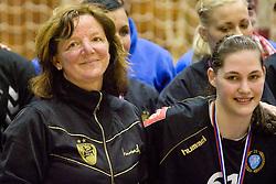 Head coach of Krim Marta Bon and Neja Sobrl at last 10th Round handball match of Slovenian Women National Championships between RK Krim Mercator and RK Olimpija, on May 15, 2010, in Galjevica, Ljubljana, Slovenia. Olimpija defeated Krim 39-36, but Krim became Slovenian National Champion. (Photo by Vid Ponikvar / Sportida)