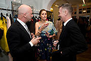 NIGEL COATES; YASMIN LE BON; JOHN MAYBURY, The Launch of the Lanvin store on Mount St. Presentation and cocktails.  London. 26 March 2009