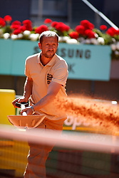 May 12, 2019 - Madrid, MADRID, SPAIN - Ilustration, workers on court during the Mutua Madrid Open 2019, Final round, (ATP Masters 1000 and WTA Premier) tenis tournament at Caja Magica in Madrid, Spain, on May 12, 2019. (Credit Image: © AFP7 via ZUMA Wire)